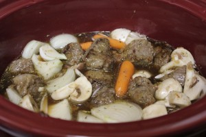 Crockpot Beef with Red Wine
