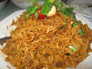 spicy lamb biryani