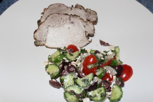 StoveTop Smoked Pork & Greek Salad