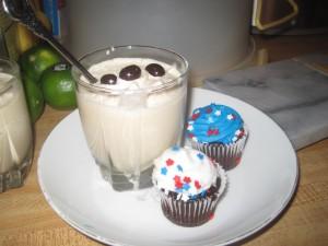 Infused cupcakes and mocha shake