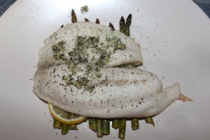 Steamed Tilapia w/ Asparagus - Food, Fun, Whatever