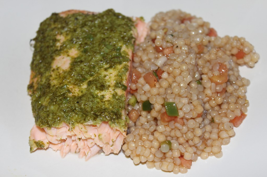 Cilantro Salmon w/Pico Couscous - Food, Fun, Whatever !!