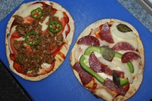 Grilled Pita Pizzas - Food, Fun, Whatever !!