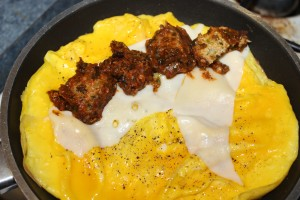 Chicken Zucchini Meatball Omelet - Food, Fun, Whatever !!
